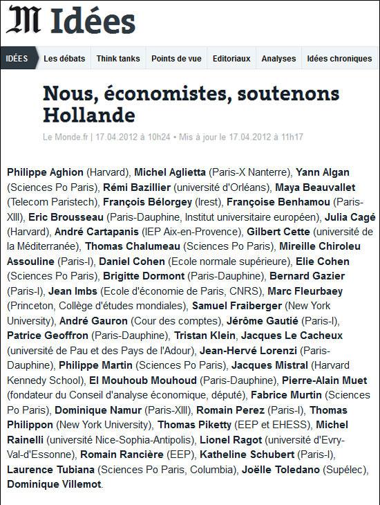 40 économistes Le Monde
