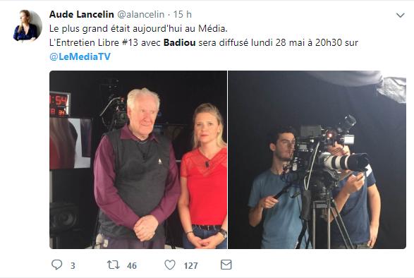 Alain Badiou invité sur Le Média le 24 mai