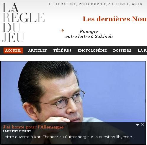 Appel Laurent Dispot - Libye - La Règle du jeu - 21/03/11