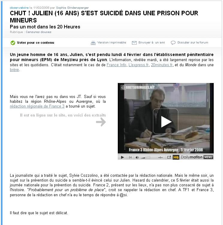 Article d'@si sur Julien Khazzar - février 2008
