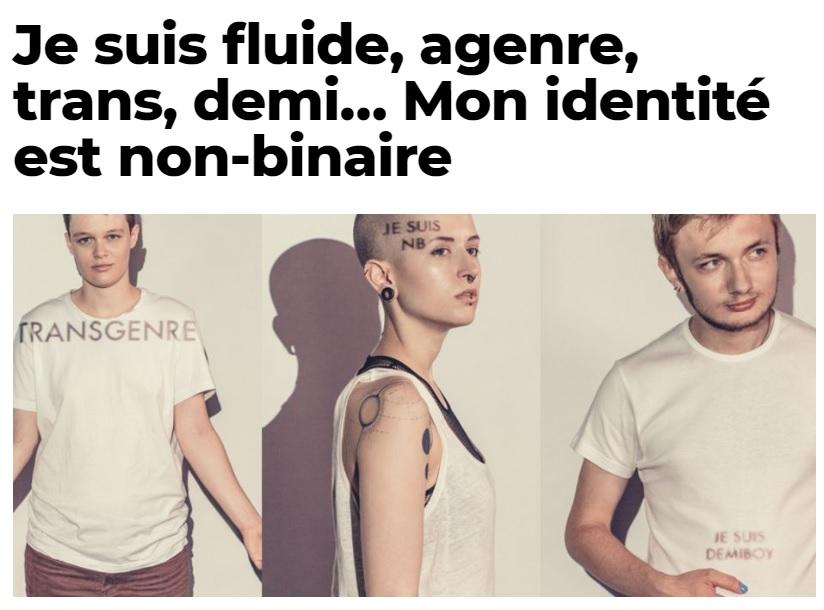 """Article de Neon sur les """"non-binaires"""""""