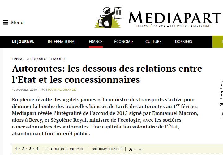 Article Médiapart autoroute