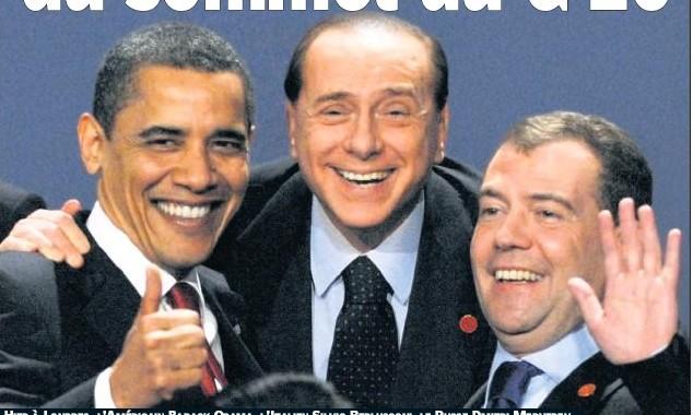 Berlusconi Obama Medvedev