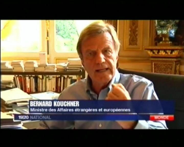 Bernard Kouchner - France 3 - 09/08/2009