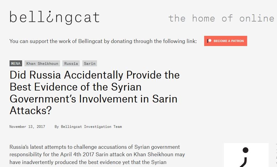 Bellingcat, spécialisé dans l'enquête en sources ouvertes