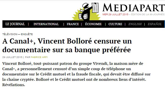 Bolloré Mediapart