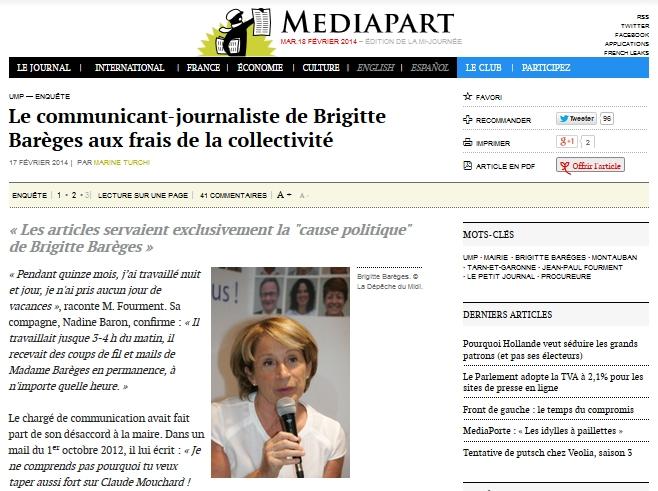 Brigitte Barèges, le chargé de com devenue journaliste