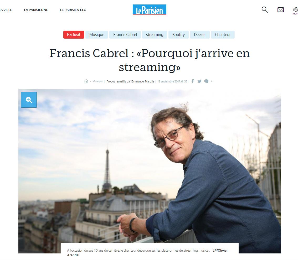 Cabrel Le Parisien