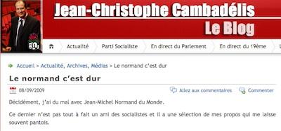 Cambadélis, blog