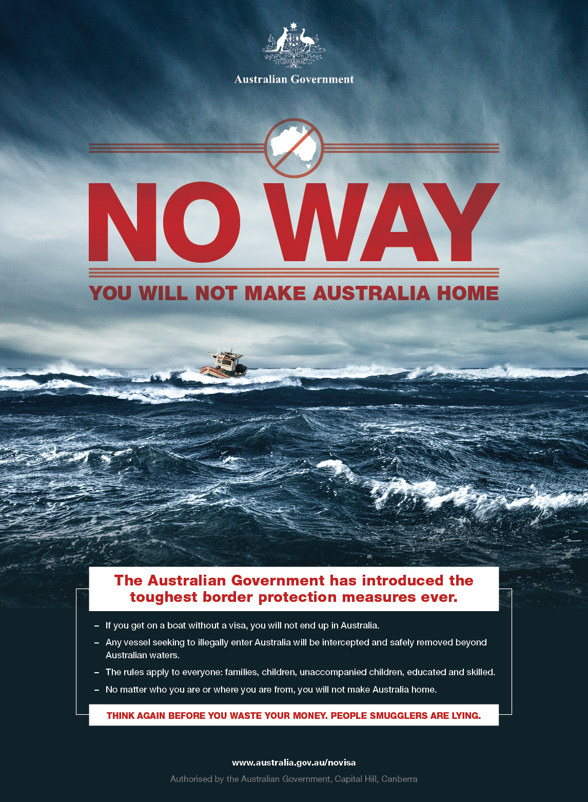 Campagne No Way - anti-migrants - Australie