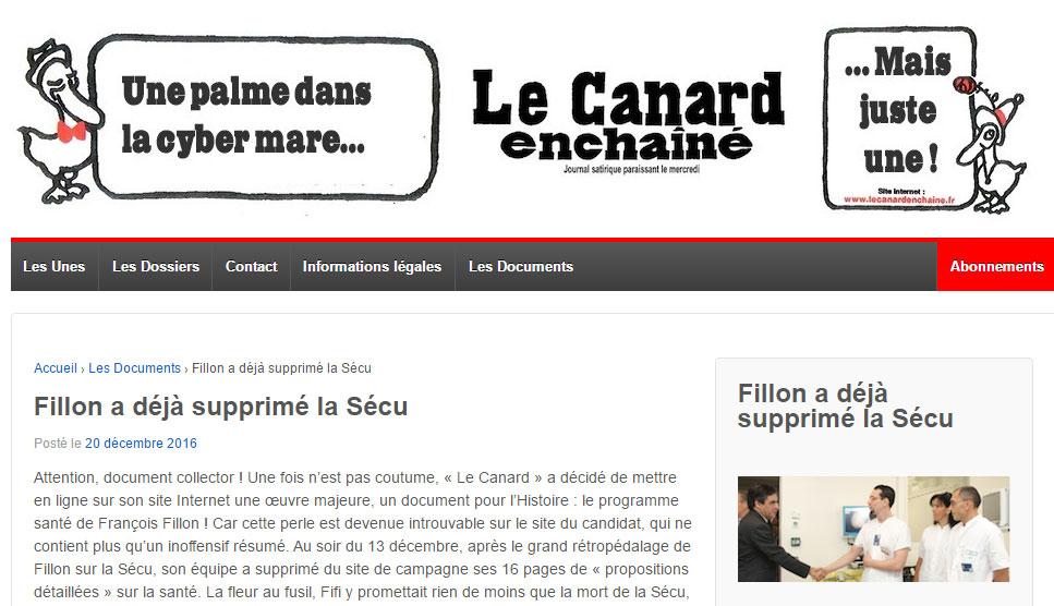 Canard Fillon