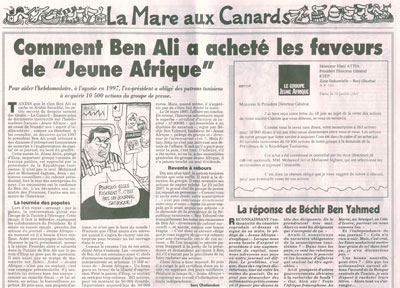 Canard - Jeune Afrique