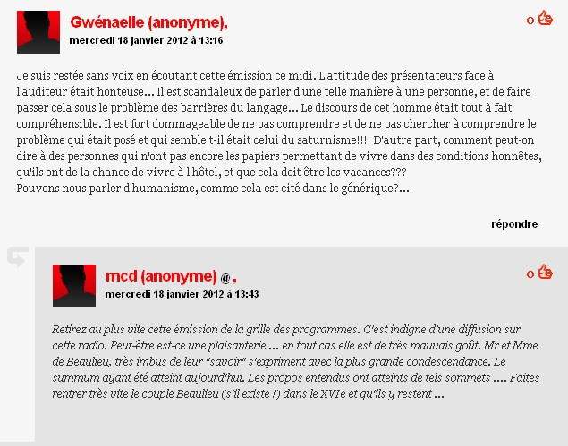 commentaires finter