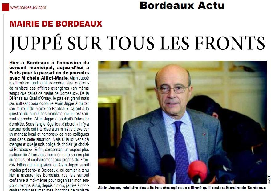 Conseil municipal Juppé - Bordeaux 7 - 01/03/11