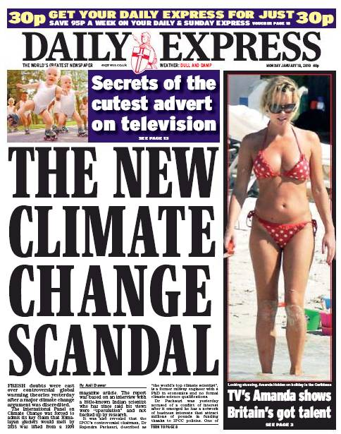 Daily Express, climat,