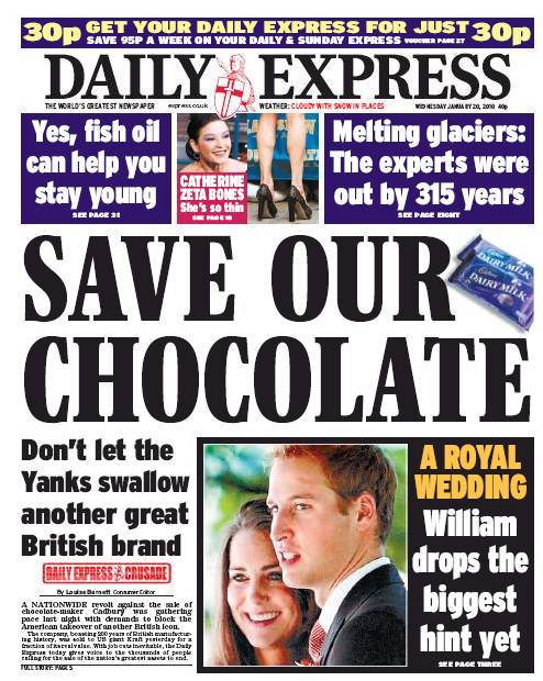 Daily Express, climat