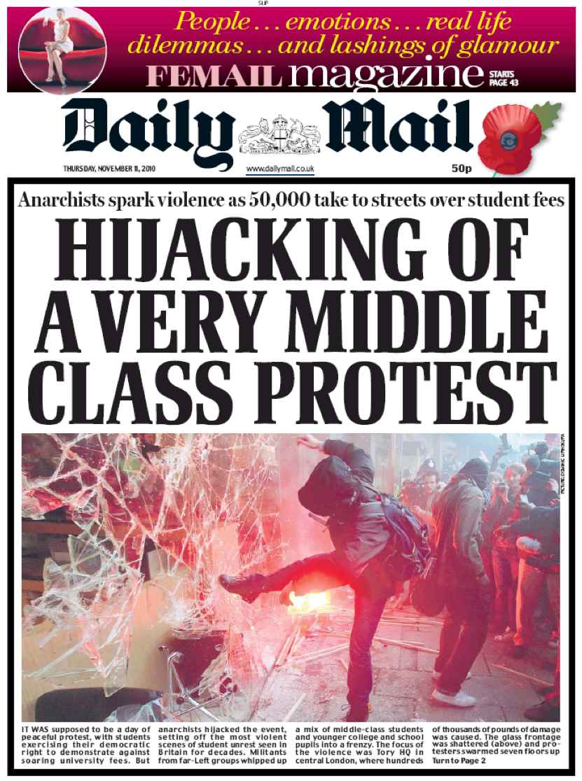 Daily Mail, manifestation, Une