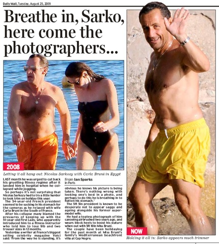 Daily Mail, Sarkozy