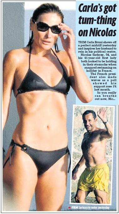 Daily Mirror, Sarkozy,