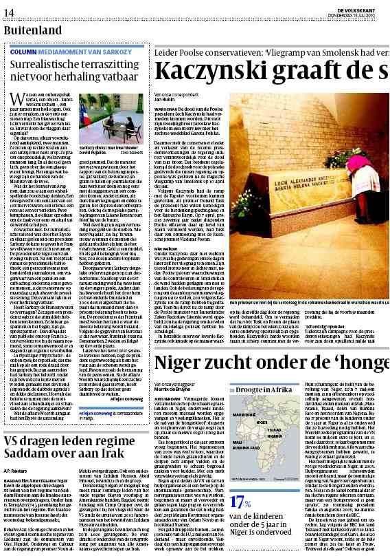 De Volkskrant, Pays Bas