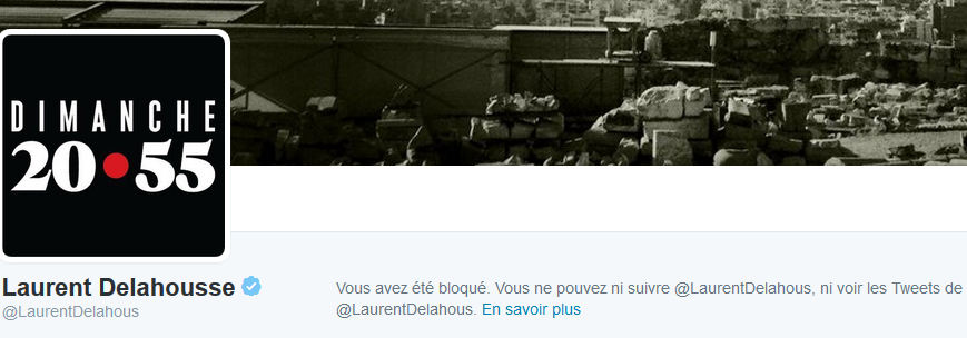 Delahousse bloque