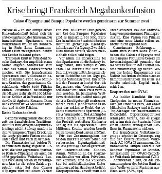 DerStandard, Autriche, Perol, Sarkozy