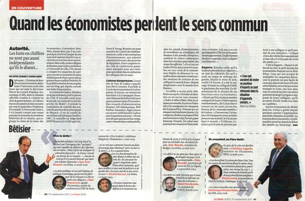 Des économistes dans Le Point