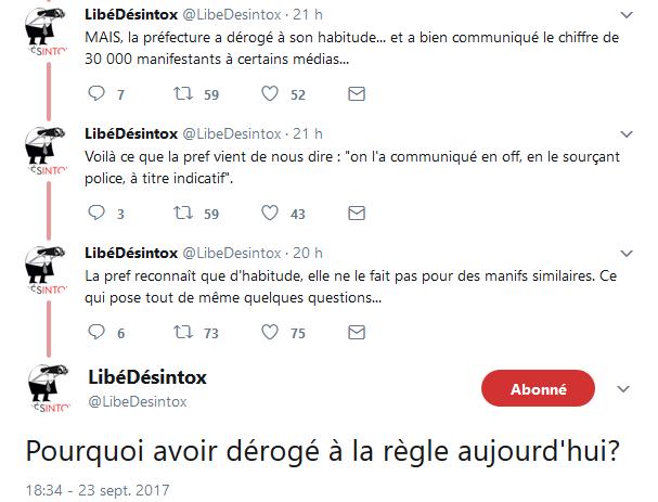 Désintox manif préfecture