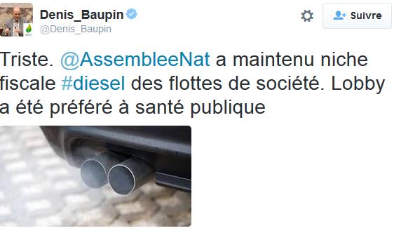 Diesel tweet Baupin
