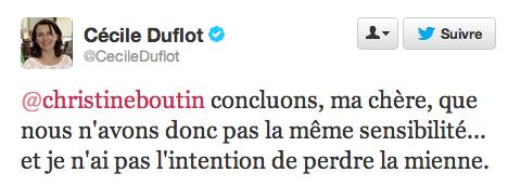 Duflot Twitter Boutin