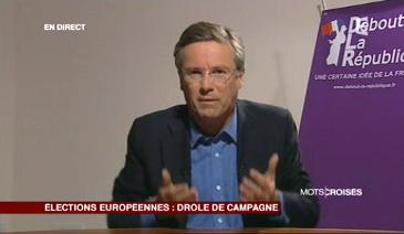 Dupont-Aignan Mots croisés