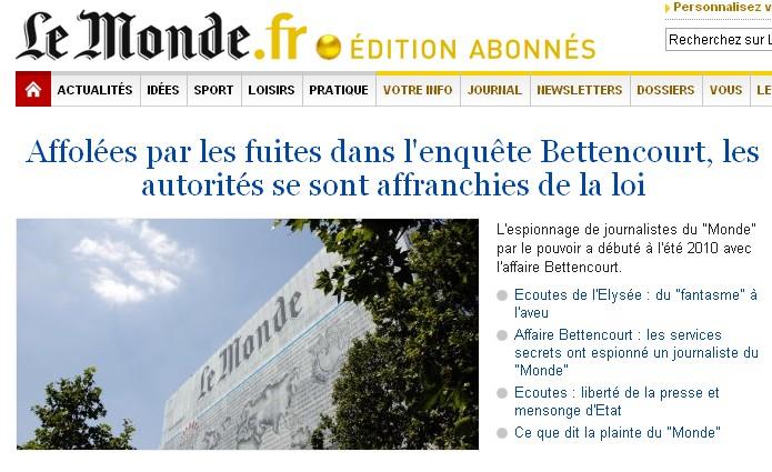 Ecoutes illégales - LeMonde.fr - 01/09/11