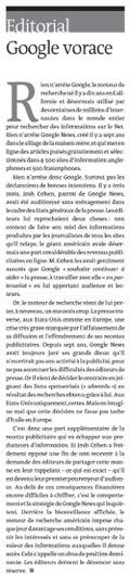 Edito, Le Monde, Google News