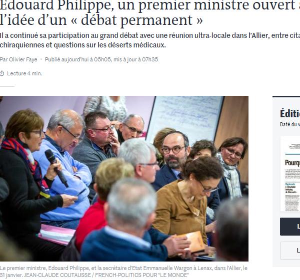 Edouard Philippe Le Monde