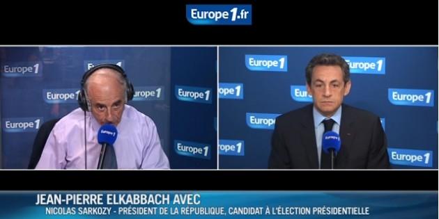 Elkabbach Sarkozy Europe 1