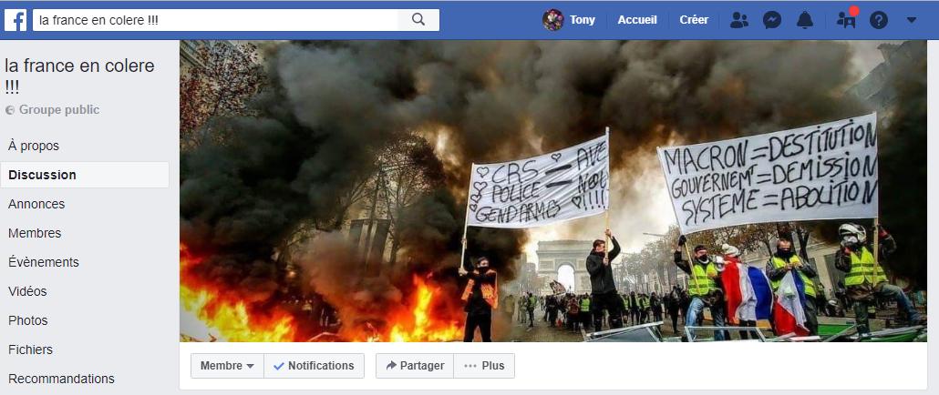 FB la frnce en colère