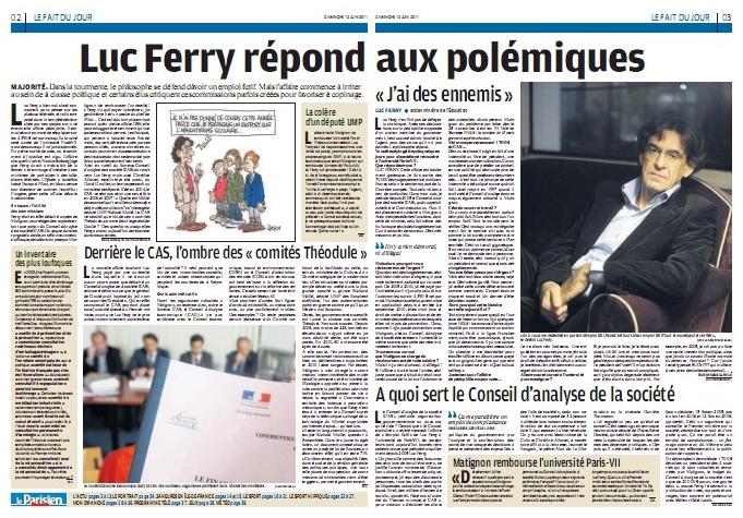 Ferry se défend - Le Parisien - 12/06/11