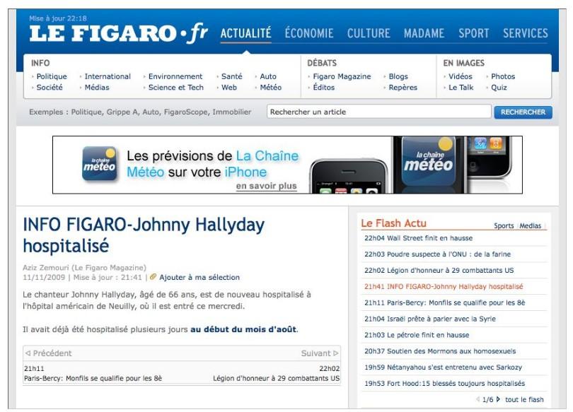 Figaro.fr - hospitalisé