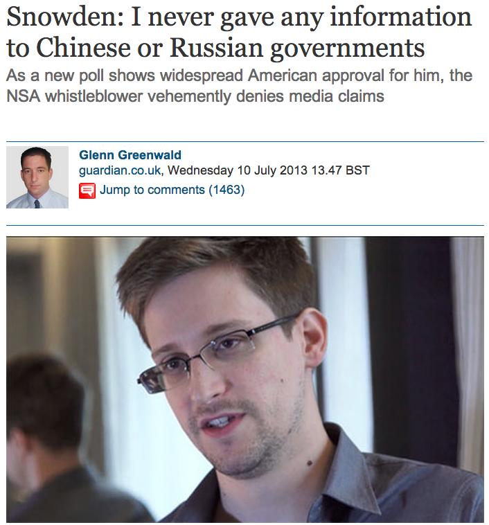 Guardian, Snowden