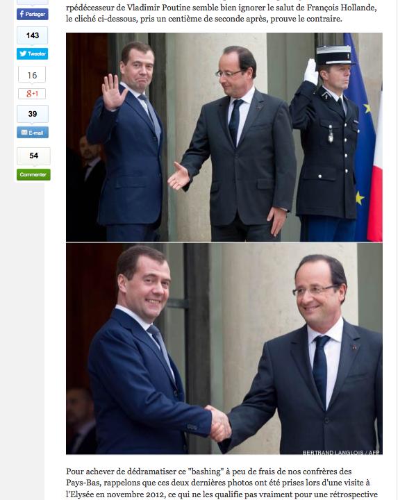 Hollande et Medvedev - Huffington Post