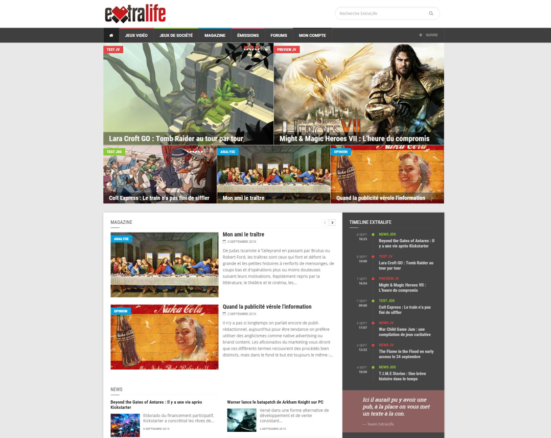 Home Page Extralife