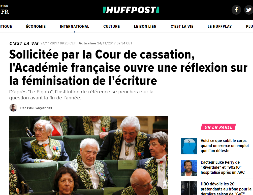 Huff post académie