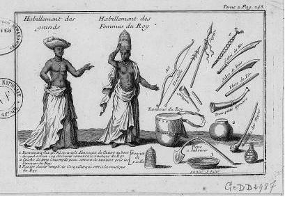 Illustration de l'expédition en Guinée d'un chevalier français, 1725
