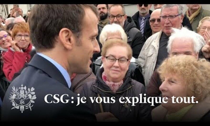 Je sais que les retraités dont la CSG augmente sont mécontents. |Emmanuel Macron