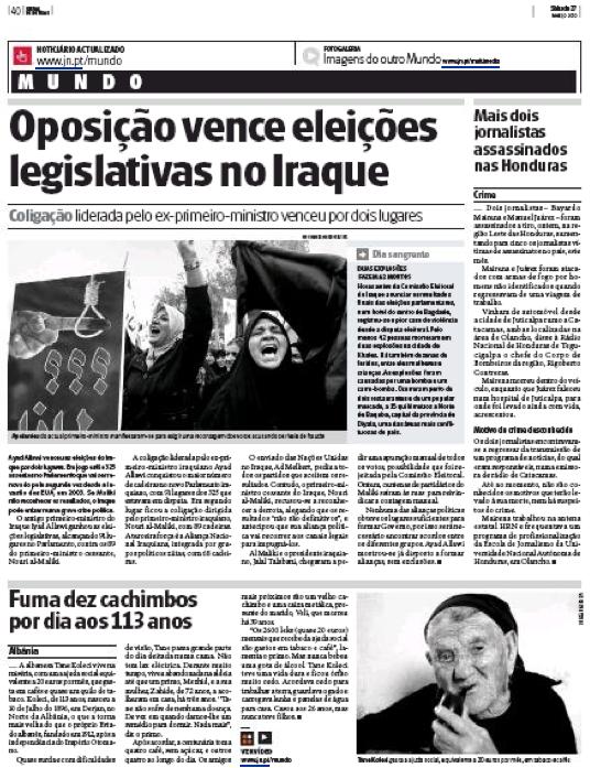 Jornal de Noticias, 27 mars