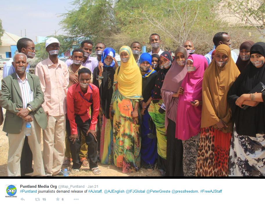Journalistes de Puntland (Somalie) - Campagne libération journalistes Al-Jazeera