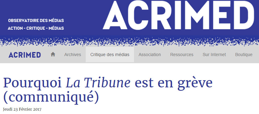 La Tribune Acrimed