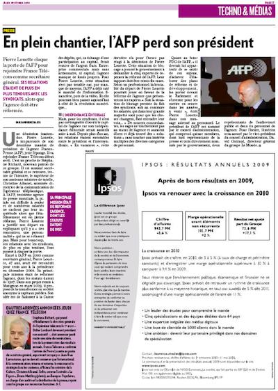 La Tribune, AFP