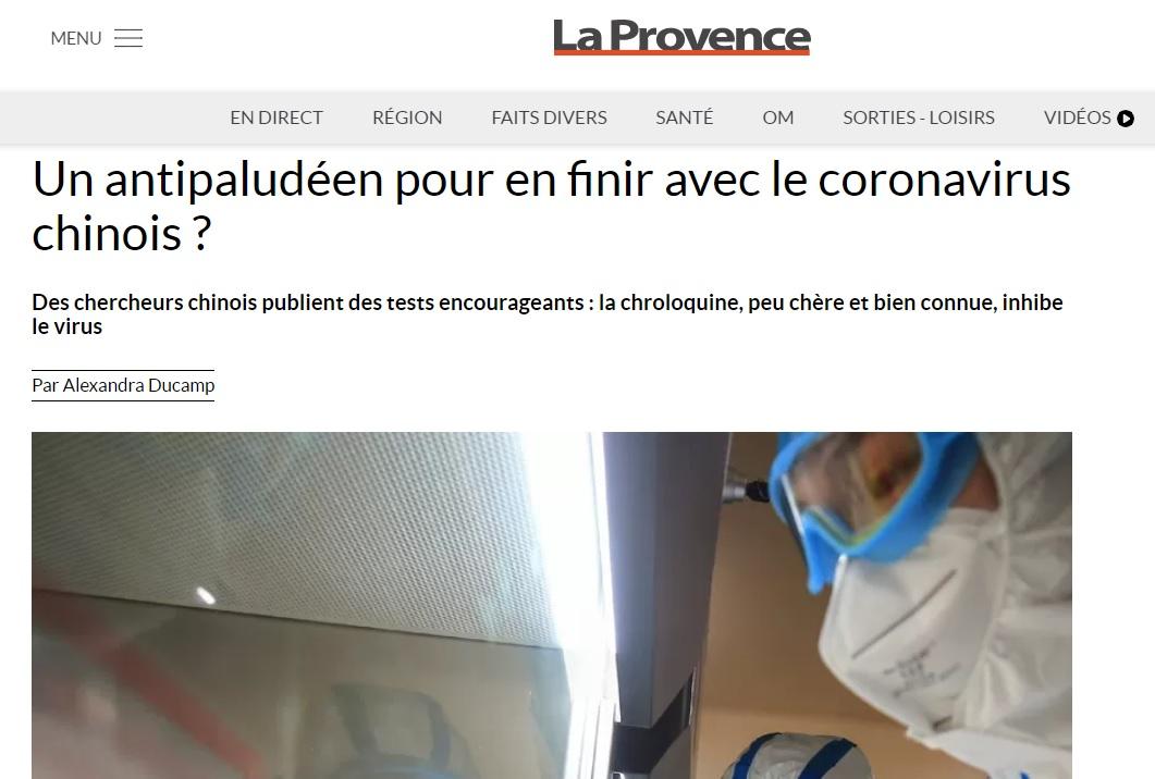 Didier Raoult annonce son intention dans La Provence