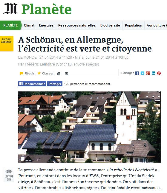 L'article du Monde sur Schönau